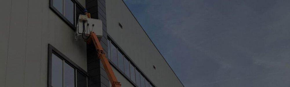Usługi podnośnikiem Poznań - mycie okien